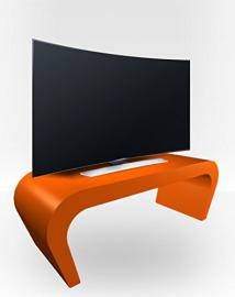 TV Stand Wedge - Orange Gloss