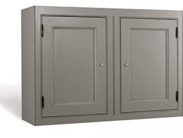 Kitchen Units Kitchen Wall Unit 1000mmW 2 Doors with Shelf and Tongue and Groove Backboards Solid Wood VL5034