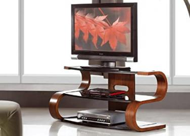 Curved Wooden Walnut Veneer TV Stand, JF203-1100 [JF203-1100]