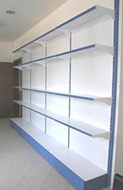 Metal shelf shelves wall 97x40x250 cm modular for shop Office Forniture