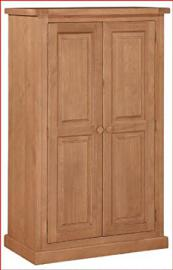 Rutland Pine Compact Two Door Wardrobe