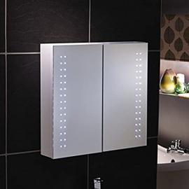 """Ancona"" - LED Bathroom LED Mirror Cabinet Illuminated Mirror - H60cm x W65cm - FREE NEXT DAY DELIVERY"