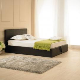 Madrid Ottoman Bed Frame Size: Super King (6'), Colour: Brown