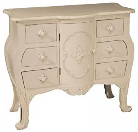 Shabby Chic French Cream Ornate Sideboard , Chest of Drawers Dresser unit