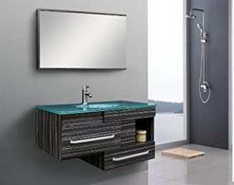 MODERN BATHROOM FURNITURE BASIN BATHROOM FURNITURE BATHROOM MIRROR INCLUDING FITTING + PUSH UP (9032-17)