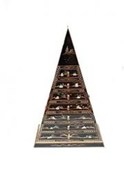 Black Lacquered With Mother Of Pearl Pyramid Cabinet Oriental Furniture Chinese