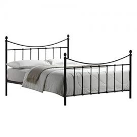 Victorian Style 4ft6 Double Black Metal Bed Frame and Imperial Pocket Sprung Memory Foam Mattress - FREE Delivery