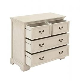 UMA Cream Wooden Chest - 29 in., Beige, Wood