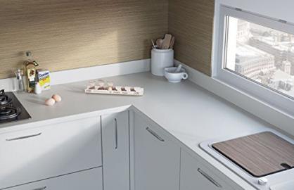 Egger Square Edge Premium White Effect Kitchen Bathroom Laminate Worktop Offcut Work Surface 25mm Breakfast Bar - 1.5m x 920mm x 25mm Breakfast Bar