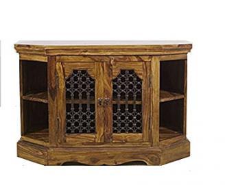 Mercers Furniture Indian Corner TV Unit - Indian Rosewood