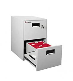 Fire Retardant File Cabinet with 2 Drawers - 706x472x533 mm (HxLxD), Weight: 75.7 kg