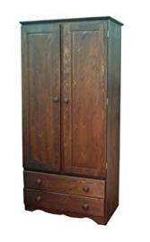 Wye Pine Bespoke Farmhouse Wardrobe - Finish: Wax - Stain: Waterbased