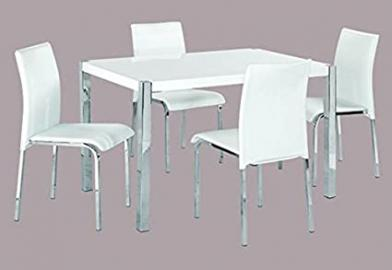 LPD Novello White Dining Set