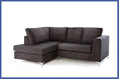 New England Corner Sofa - Grey Left Hand Side Orientation