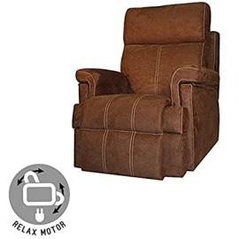Maximum Comfort Sillon Relax With Opening Electrica - Colour Chocolate With Seam Beige