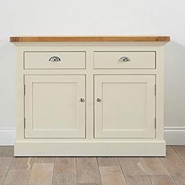 Cavanaugh Sideboard Solid Oak & Cream (Sizes Medium/Large)