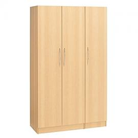 Alaska Three Door Wardrobe Plain, Beech