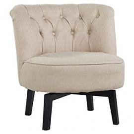 Leader Lifestyle Jade Swivel Chair, Cream