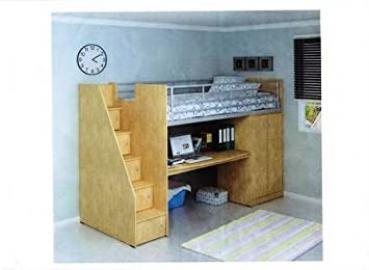 KIDS CHILDRENS CABIN BED FRAME OAK 3FT SINGLE FREE DELIVERY (Melamine, 236cm x 163cm x 102cm)