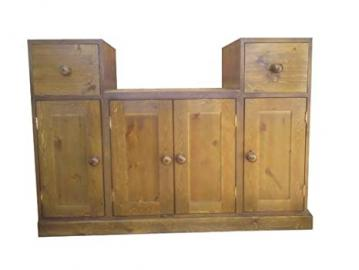 Wye Pine Butler Sink Cabinet - Finish: Lacquer - Stain: Waterbased