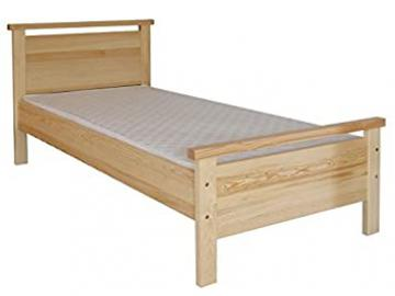 Children's bed / Youth bed 70A, solid pine wood, clear finish, incl. slatted bed frame - 80 x 200 cm