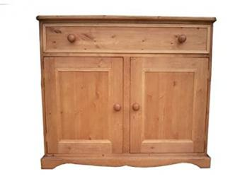 Wye Pine Traditional Sideboard with 1 Drawer - Finish: Unfinished - Stain: Waterbased