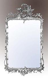 Rocaille Silver Gilt Leaf Bevelled Mirror Width: 90cm