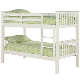 LPD Furniture Leo Single Bunk Bed, In White