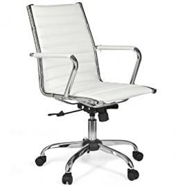 Amstyle Design Desk chair leatherette monex 2 white