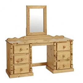 Ideal Furniture 3 Door Plus 5 Drawers Wardrobe, Wood, Antique Pine