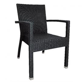 Charcoal Bolero Wicker Armchair (Pack of 4)