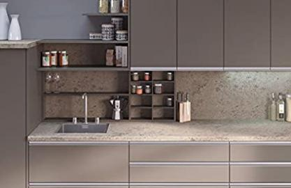 Egger Contemporary Trento Grey - Beige Effect Kitchen Bathroom Laminate Worktop Offcut Work Surface 40mm Breakfast Bar - 3m x 670mm x 38mm Breakfast Bar