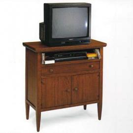 Wooden TV Table cm 83x39, h 85 With Drawers and Doors, MADE IN ITALY