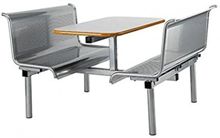 VOYAGER 6 SEAT BENCH MODULAR CANTEEN DINING FAST FOOD TABLE AND CHAIRS / SEATER UNIT - RESTAURANT CAFE BISTRO FACTORY