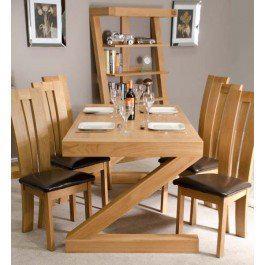 Z Oak Designer 6' X 3' Dining Table