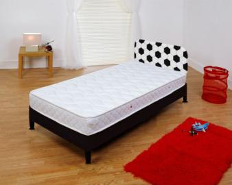 Soccer SINGLE DIVEN BEDBASE WITH LITTEL CHAMP MATTRESS AND HEADBOARD +FREE MEMORY FOAM PILLOW
