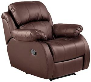 Birlea Ascot Faux-Leather Recliner Chair, Brown