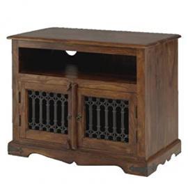 Jali Sheesham Square TV Cabinet - Indian Wood Furniture