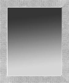 "Printfinders Contemporary Beveled Wall Mirror, 36 x 30"", Silver"