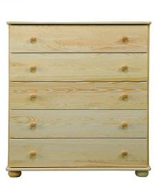 Dresser solid, natural pine wood Junco 139 - Dimensions 123 x 100 x 42 cm