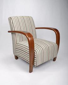 Shankar Restmore Stripe Duck Egg Blue Fabric Armchair