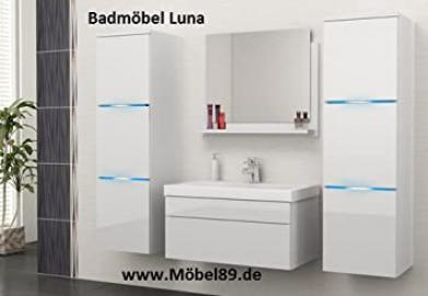 Luna Bathroom Set Bathroom Furniture Set with Basin Hochschränke and LED Light