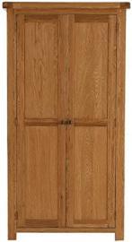Pembroke oak bedroom furniture 2 door full hanging wardrobe