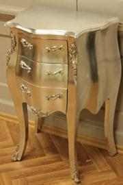 chest of drawers shabby high quality leaved silver