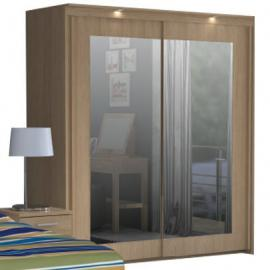 Bronte 2 Door Sliding Mirrored Wardrobe - Oak Effect BRTS921SB