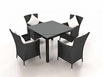 CERES S Rattan Garden Dining Set (Black)
