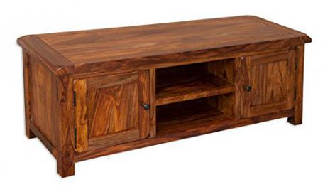 IFD Vellar Indian Sheesham Widescreen TV Unit, Size: H 50cm, W 133cm, D 44cm