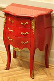 small baroque chest of drawers red golden brass