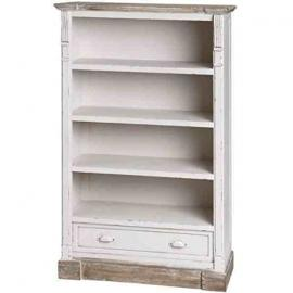 NEW SHABBY CHIC NEW ENGLAND ANTIQUE WHITE LOW BOOKCASE STORAGE DISPLAY SHELVED UNIT (H13402) **Full Range Of MATCHING Furniture Is Available**