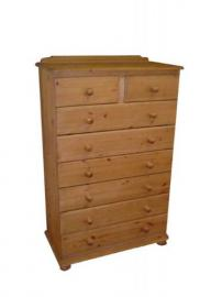 Wye Pine Woodland 35' 6+2 Drawer Chest - Finish: Lacquer - Stain: Waterbased